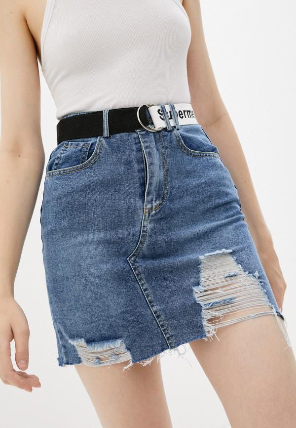 женская джинсовые юбка fadjo, синяя