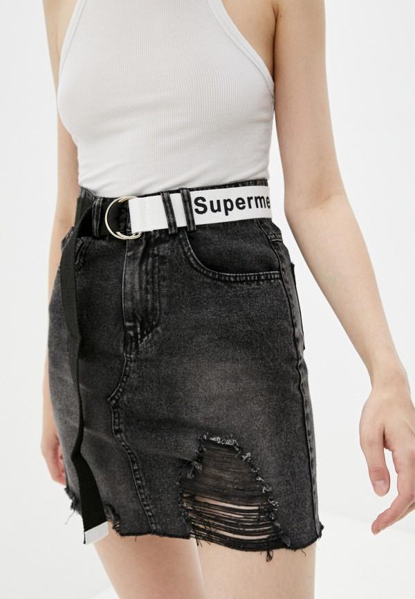 женская джинсовые юбка fadjo, черная