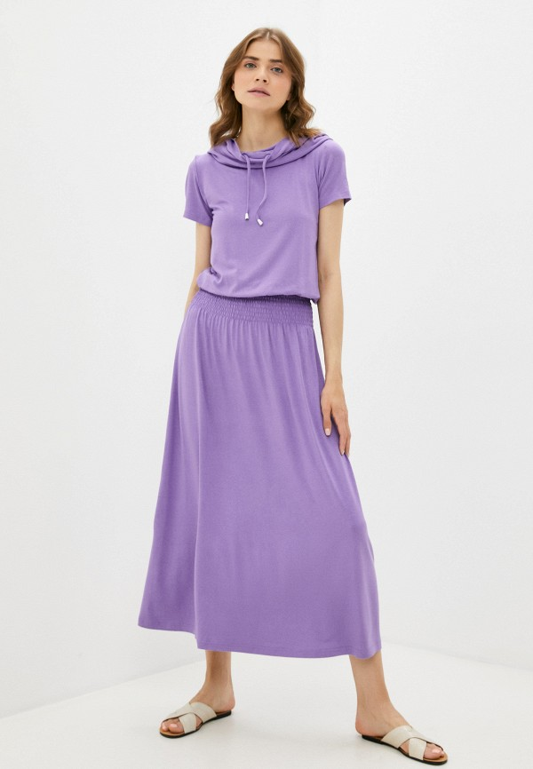 женское платье-футболки мадам т, фиолетовое