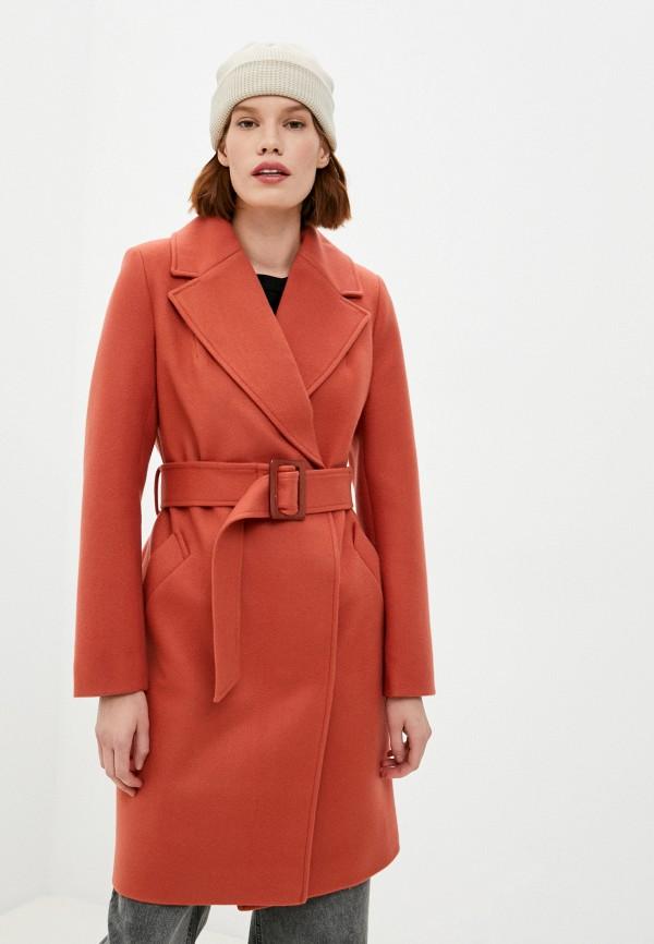 женское пальто vivaldi, оранжевое