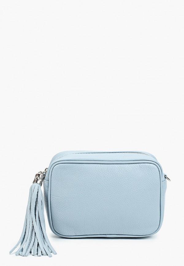 женская сумка через плечо alessandra del biondo, голубая