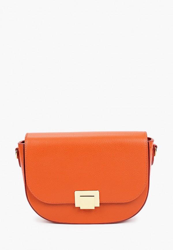 женская сумка через плечо alessandra del biondo, оранжевая