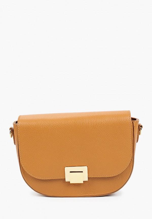 женская сумка через плечо alessandra del biondo, коричневая