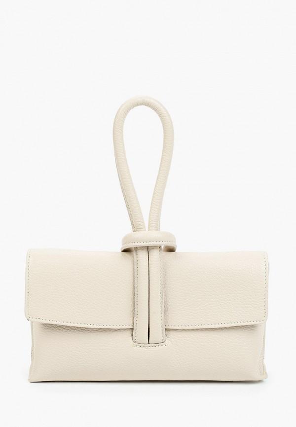 женская сумка с ручками alessandra del biondo, бежевая