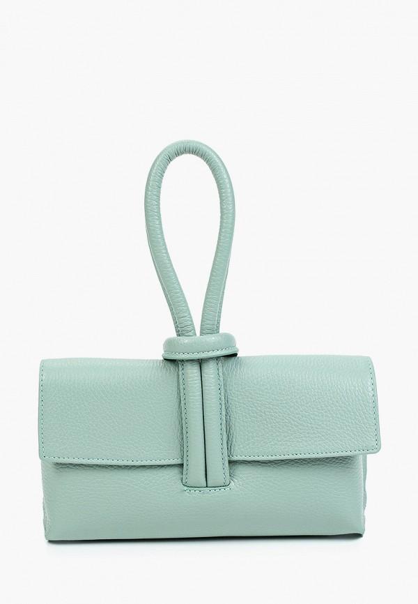 женская сумка с ручками alessandra del biondo, бирюзовая