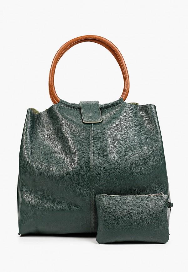 женский кошелёк-шоперы alessandra del biondo, зеленый