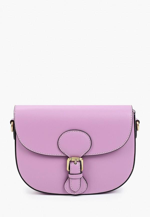 женская сумка через плечо alessandra del biondo, фиолетовая