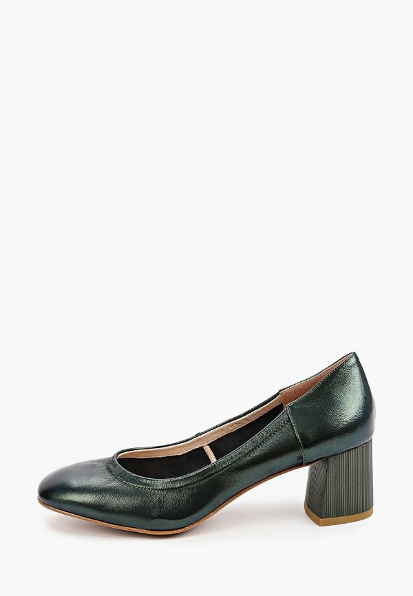 женские туфли с закрытым носом dino ricci, зеленые