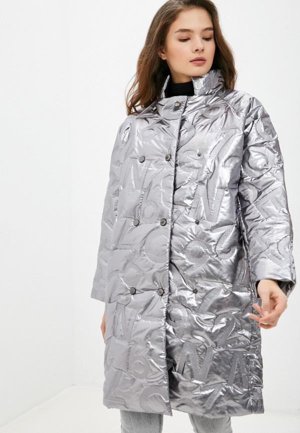 женская утепленные куртка naturel, серебряная
