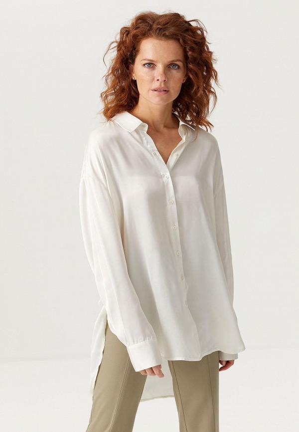 женская блузка с длинным рукавом sela, белая