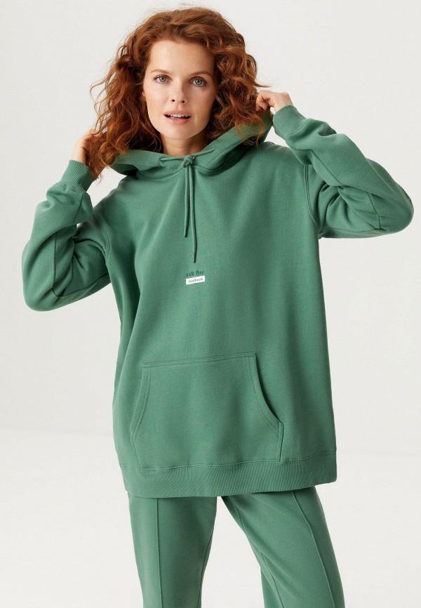 женские худи sela, зеленые