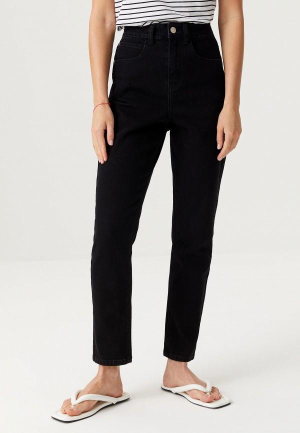 женские джинсы-мом sela, черные
