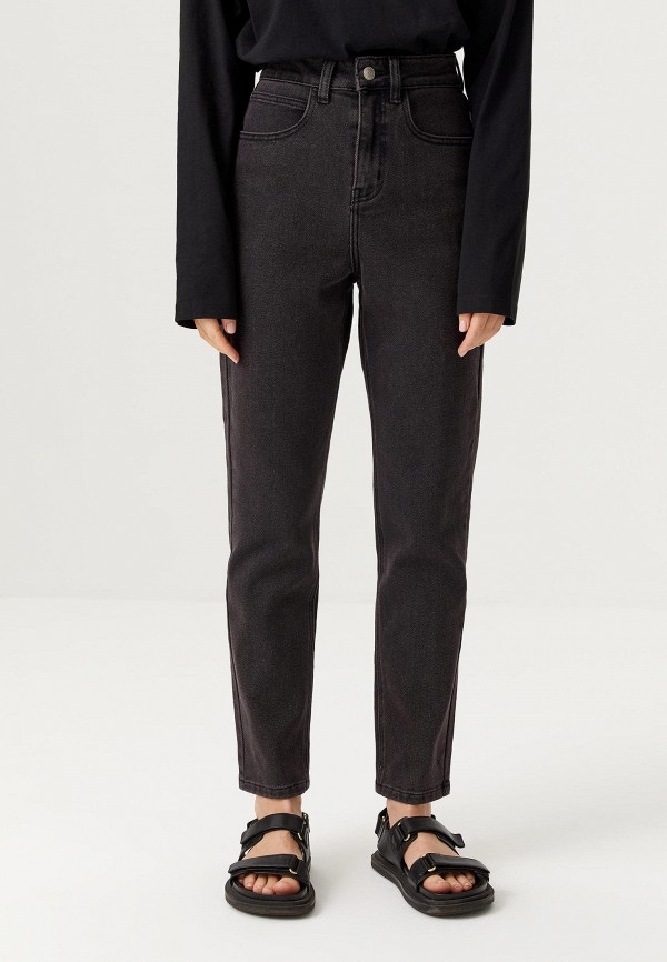 женские джинсы-мом sela, серые