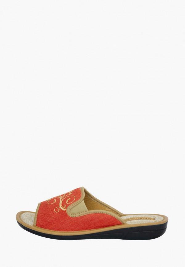 женские тапочки belsta, оранжевые