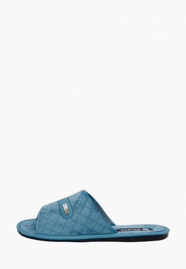 женские тапочки belsta, голубые