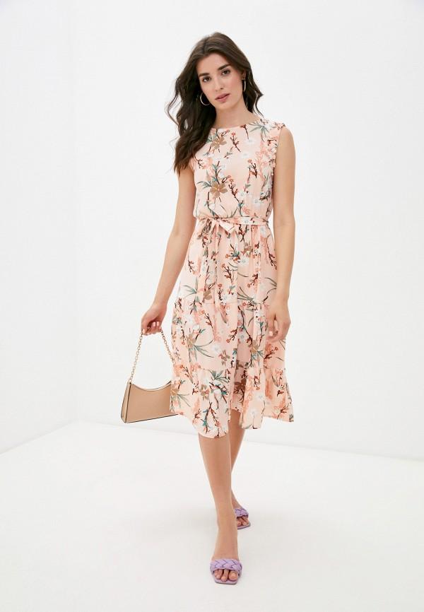 женское повседневные платье froggi, розовое