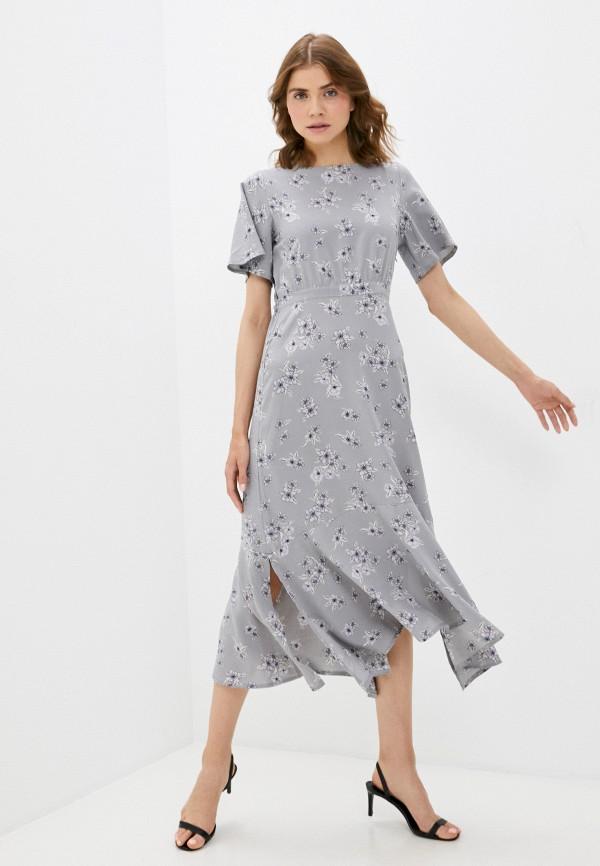 женское повседневные платье froggi, серое