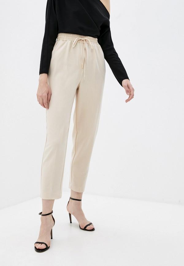 женские брюки джоггеры love republic, бежевые