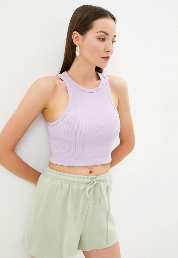 женский топ la urba person, фиолетовый