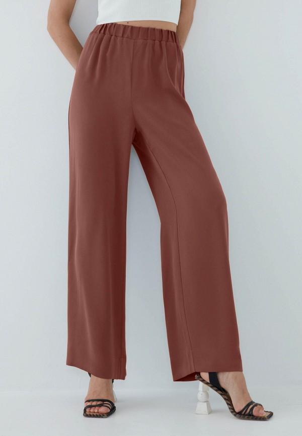 женские брюки джоггеры zarina, коричневые