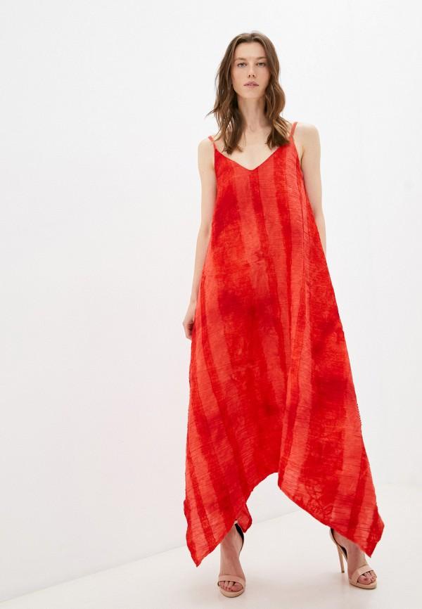 женское платье patricia charme, красное