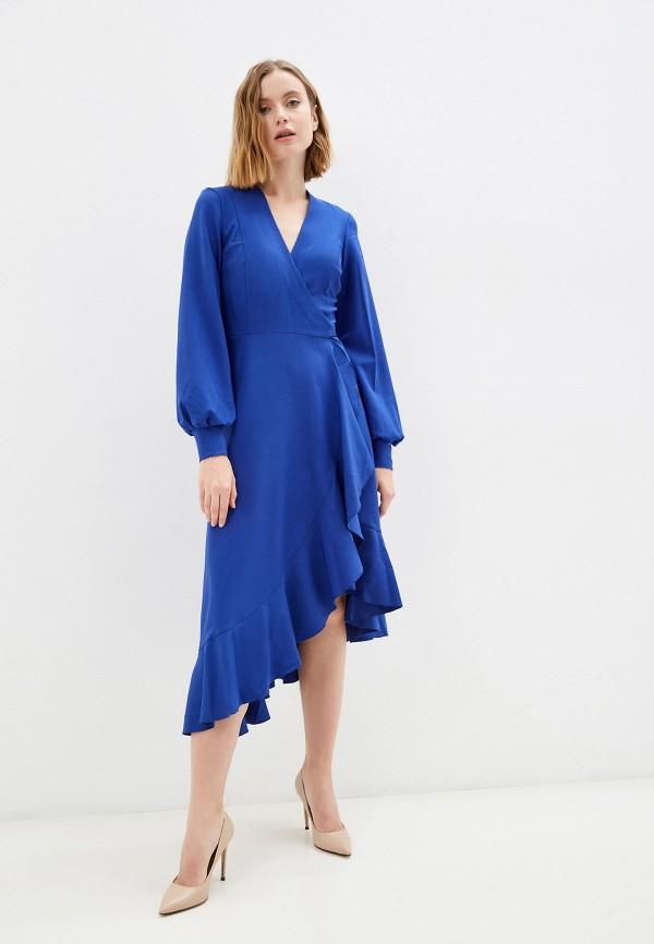 женское платье с запахом patricia charme, синее