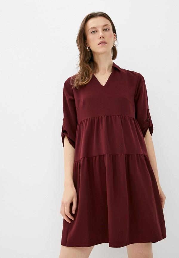 женское повседневные платье patricia charme, бордовое