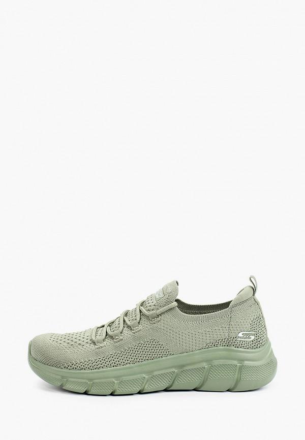 женские низкие кроссовки skechers, зеленые