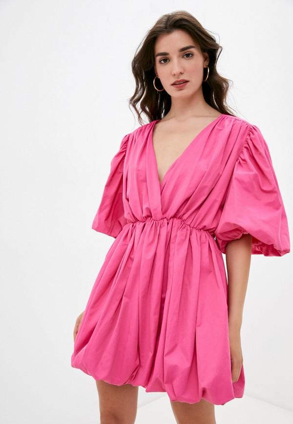 женское платье с запахом top top, розовое