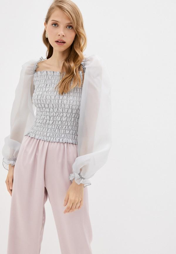 женская блузка с открытыми плечами top top, серая