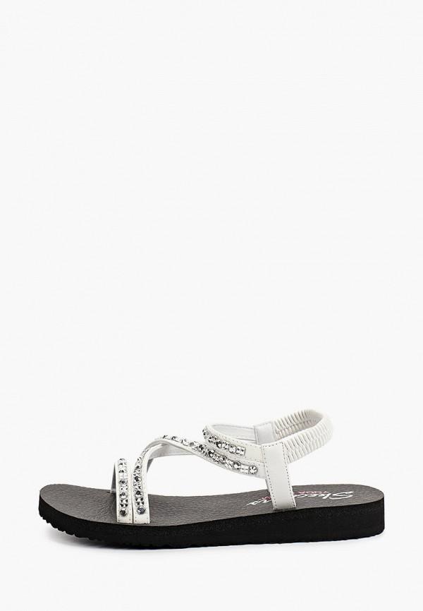 женские сандалии skechers, белые