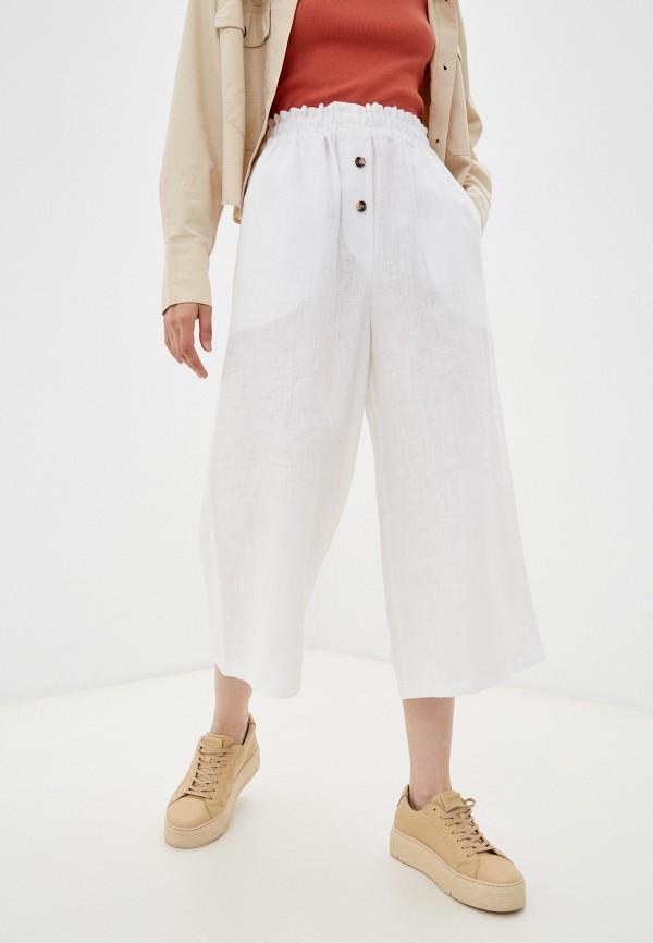 женские повседневные брюки mellow, белые