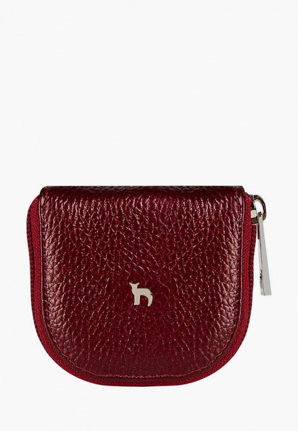женский кошелёк mumi, бордовый
