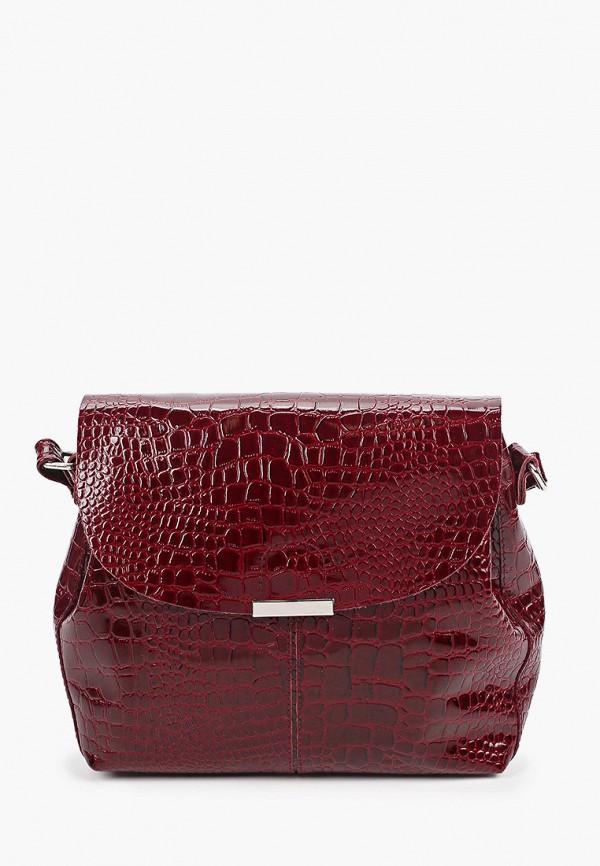 женская сумка через плечо rosedena, бордовая