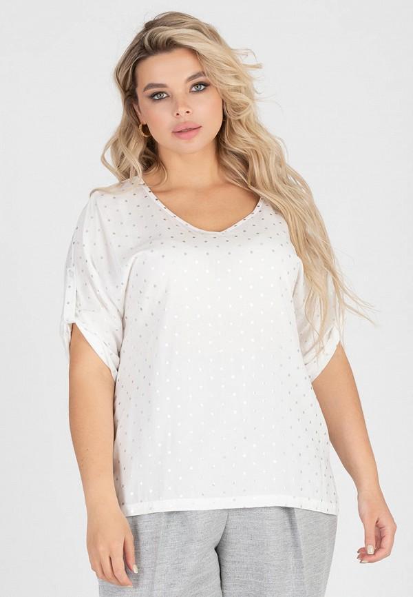 женская блузка с коротким рукавом eliseeva olesya, белая