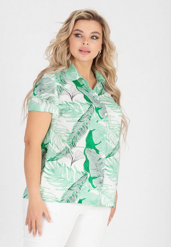 женская блузка с коротким рукавом eliseeva olesya, зеленая