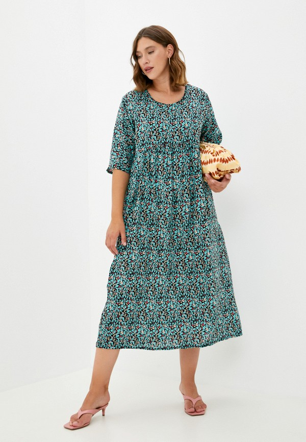 женское повседневные платье oddwood, бирюзовое