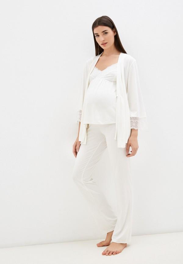 женская домашняя одежда hunny mammy, белая