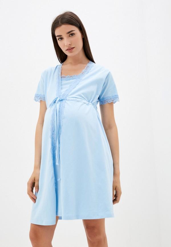 женская домашняя одежда hunny mammy, голубая