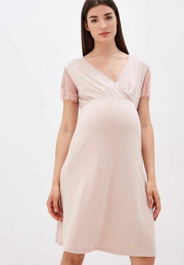 женское платье hunny mammy, бежевое