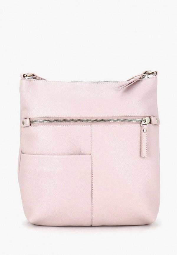 женская сумка через плечо solo, розовая