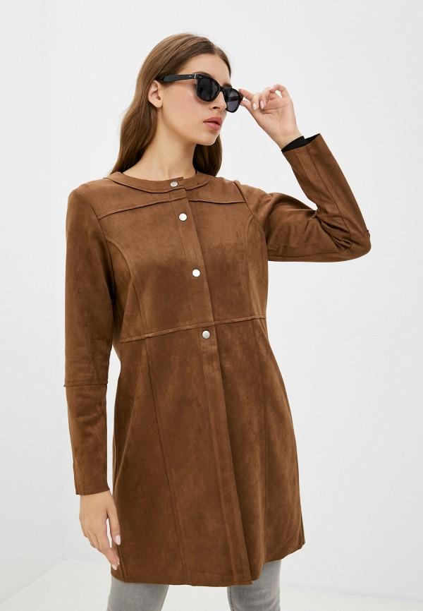 женское пальто micha, коричневое