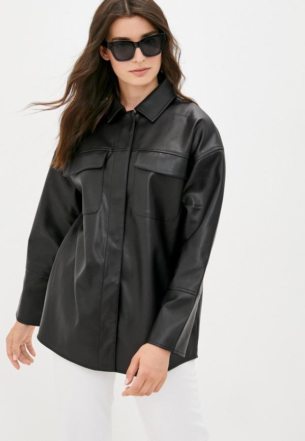 женская рубашка с длинным рукавом befree, черная