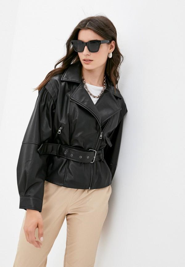 женская куртка косухи befree, черная