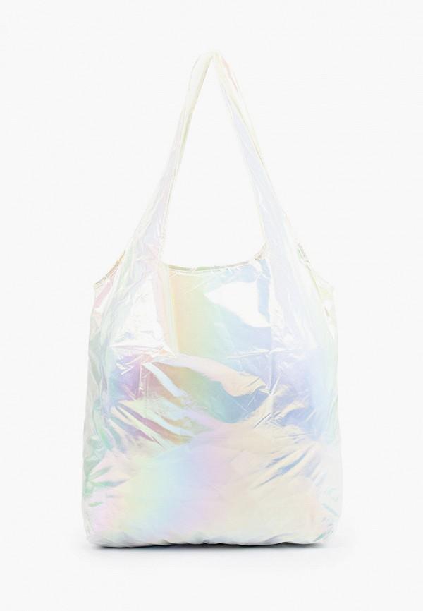 женская сумка-шоперы befree, серебряная
