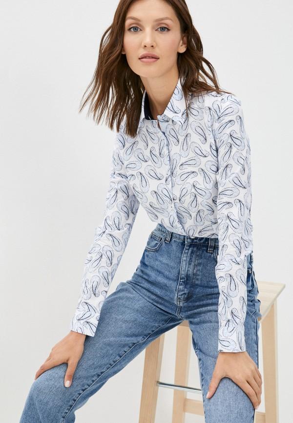 женская рубашка с длинным рукавом bawer, белая
