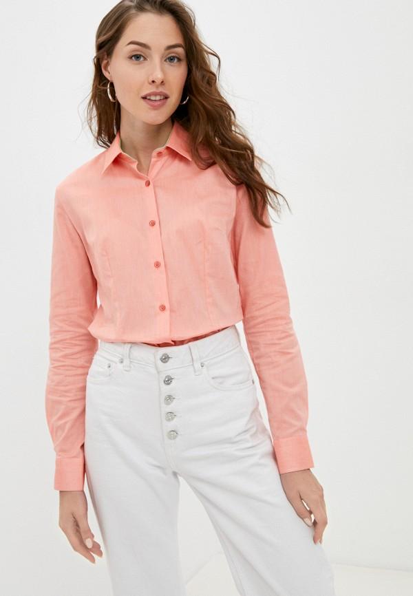 женская рубашка с длинным рукавом bawer, оранжевая