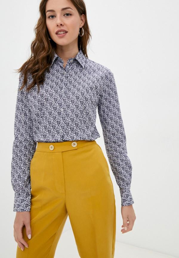 женская рубашка с длинным рукавом bawer, синяя