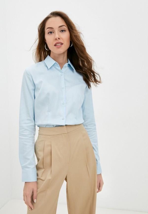 женская рубашка с длинным рукавом bawer, голубая
