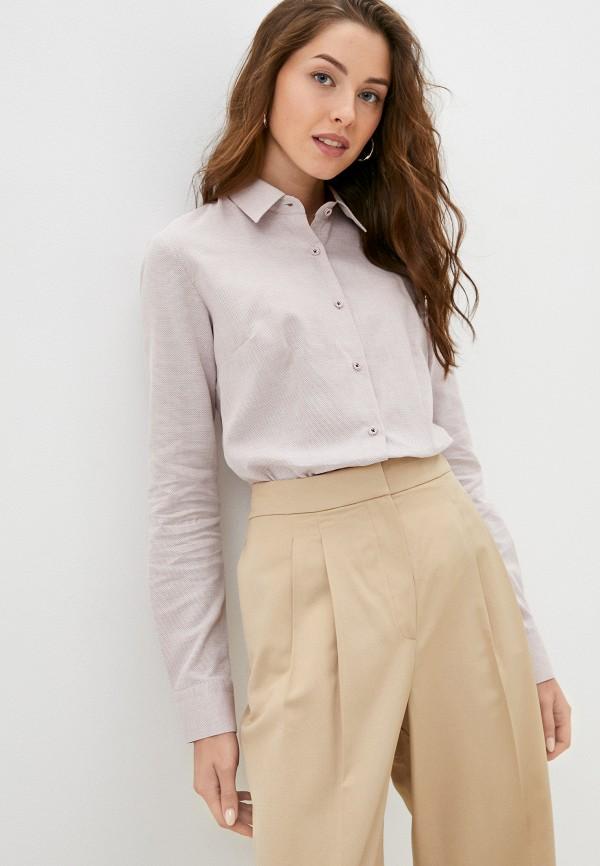 женская рубашка с длинным рукавом bawer, розовая